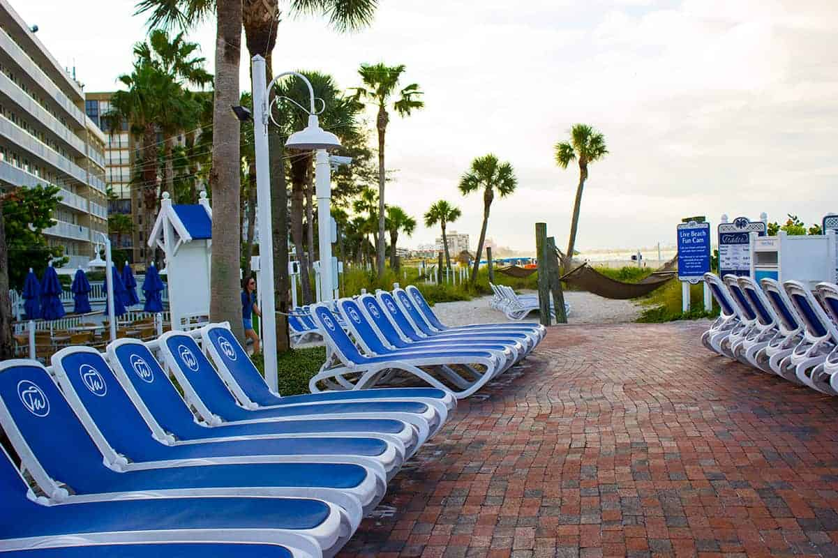 TradeWinds Resort Beach Lounge Chairs St Petes Beach Florida