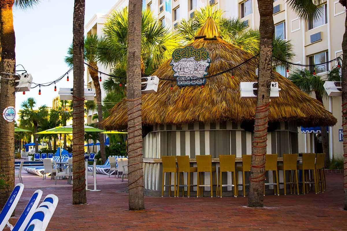 TradeWinds Resort Beach Saltys Tiki Bar St Petes Beach Florida