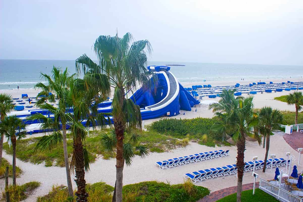 TradeWinds Resort Beach Water Slide St Petes Beach Florida