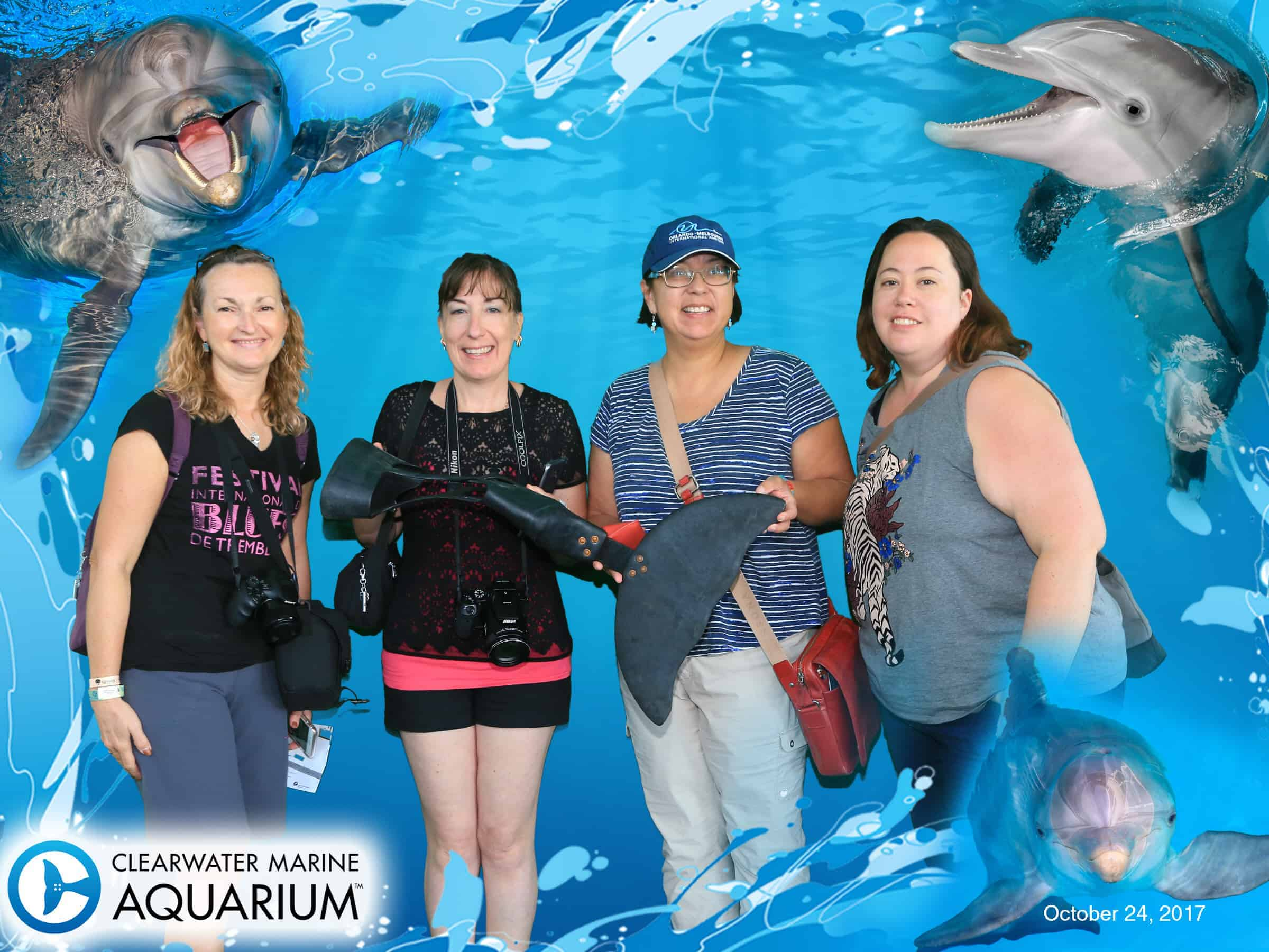 Awesome group shot at Clearwater Marine Aquarium Group Photos