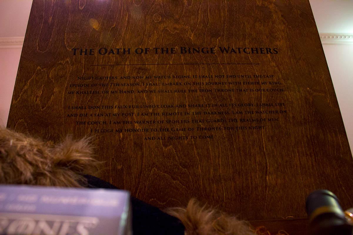 HBO Game of Thrones Season 7 The Oath of the Binge Watchers
