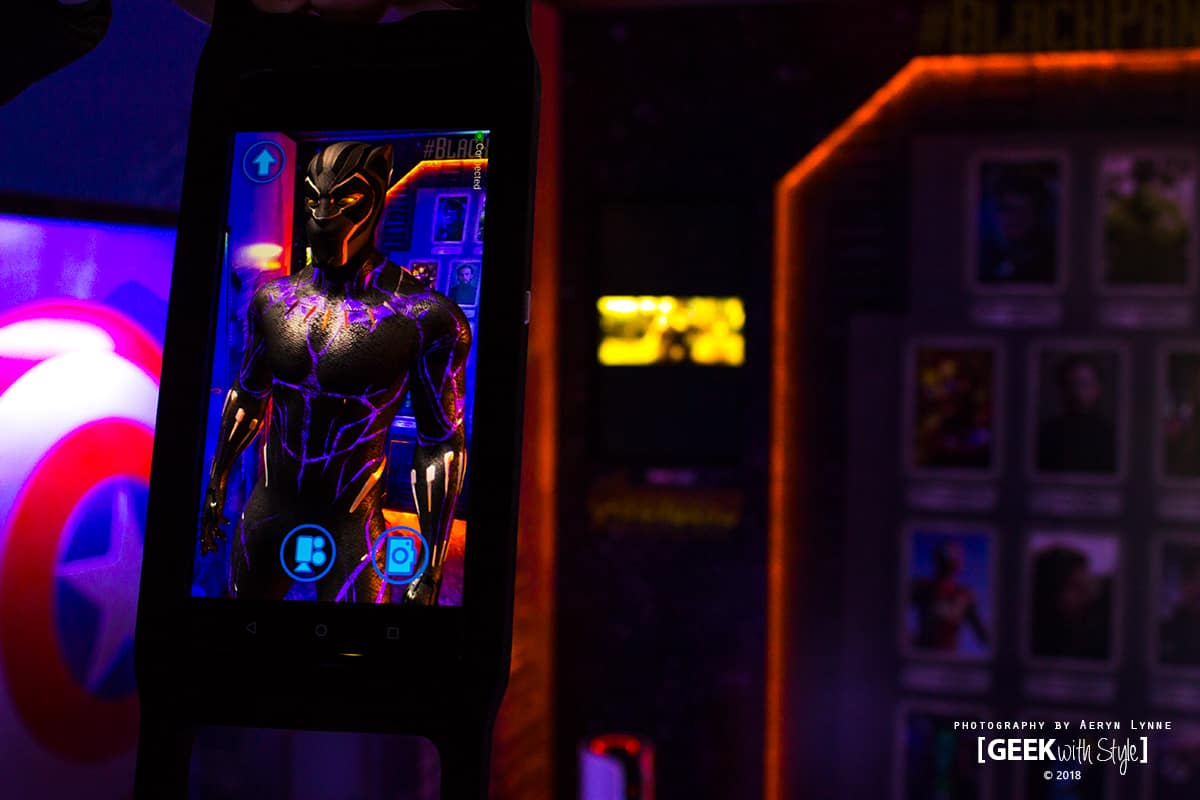 Black Panther AR Experience Close Up Marvel Toronto