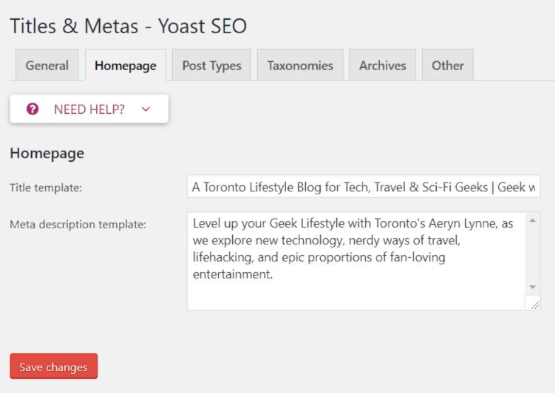 Yoast SEO - Titles and Metas