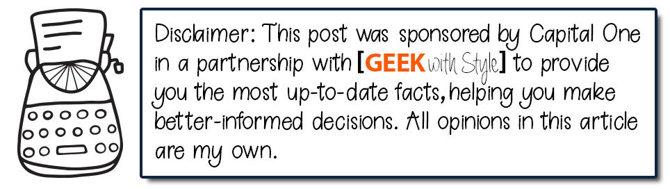 disclaimer capital one partnership | Geek Life: Augmenting Reality