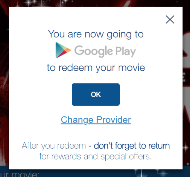 Star Wars Last Jedi Redeem Google Play Movie Code